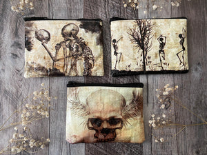 Skull/Skeleton Zippered Pouches