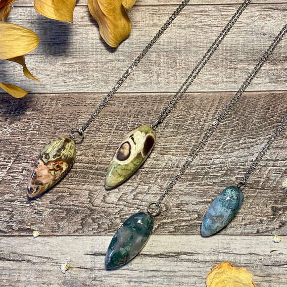 Faceted Drop Pendants