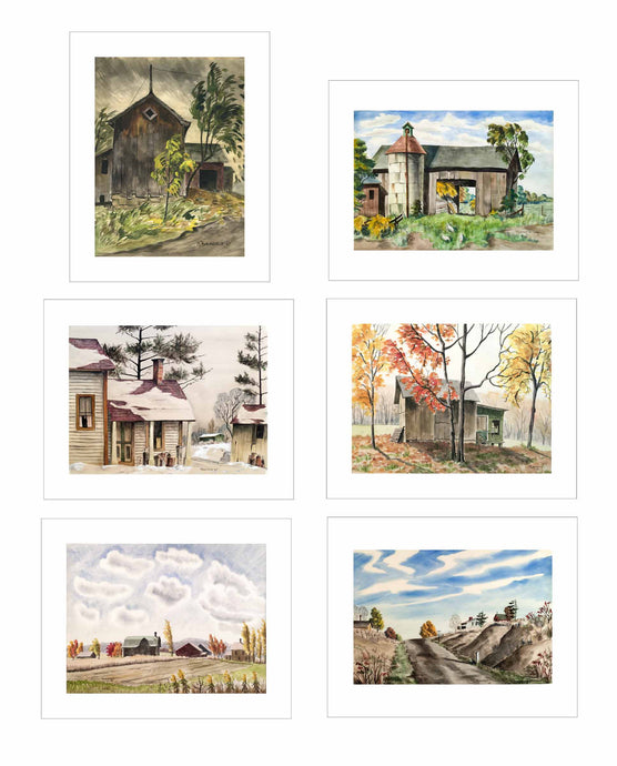 Martha Burchfield Richter Art Cards - Set of 6