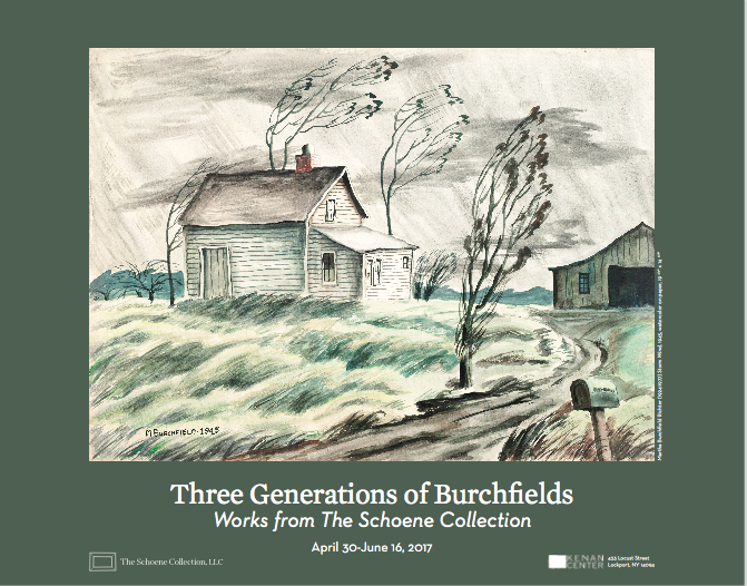 Three Generations of Burchfields: Works From the Schoene Collection Exhibition Poster