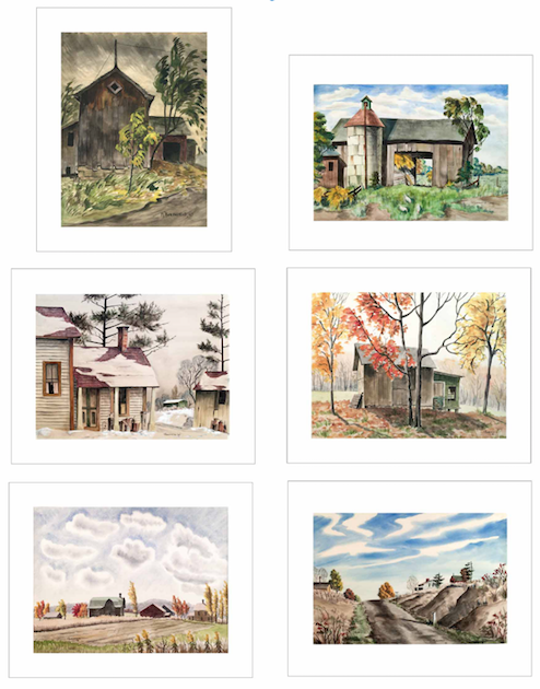 Martha Burchfield Richter, Limited Edition Prints, Set of 6