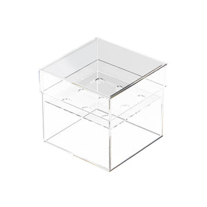 Clear Flower Acrylic Box