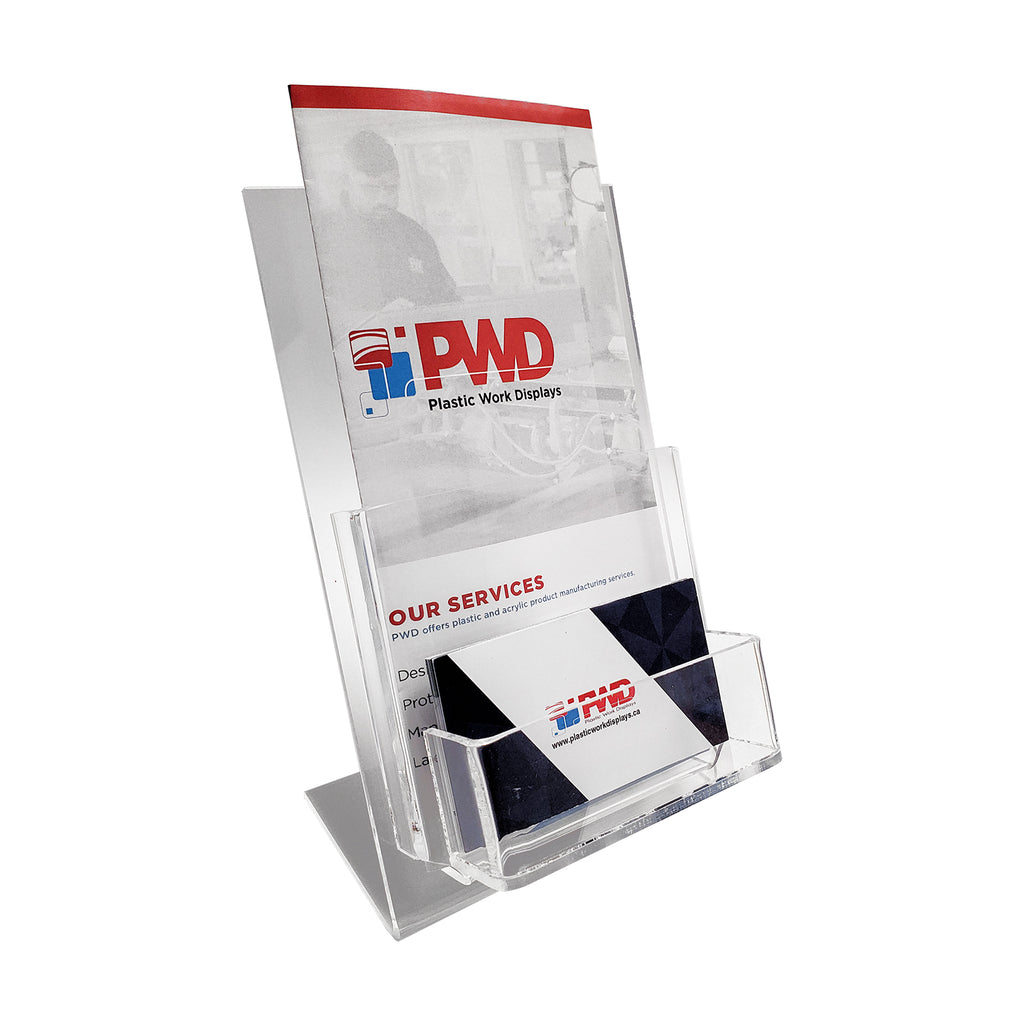 One Compartment Brochure Holder - Plastic Work Displays