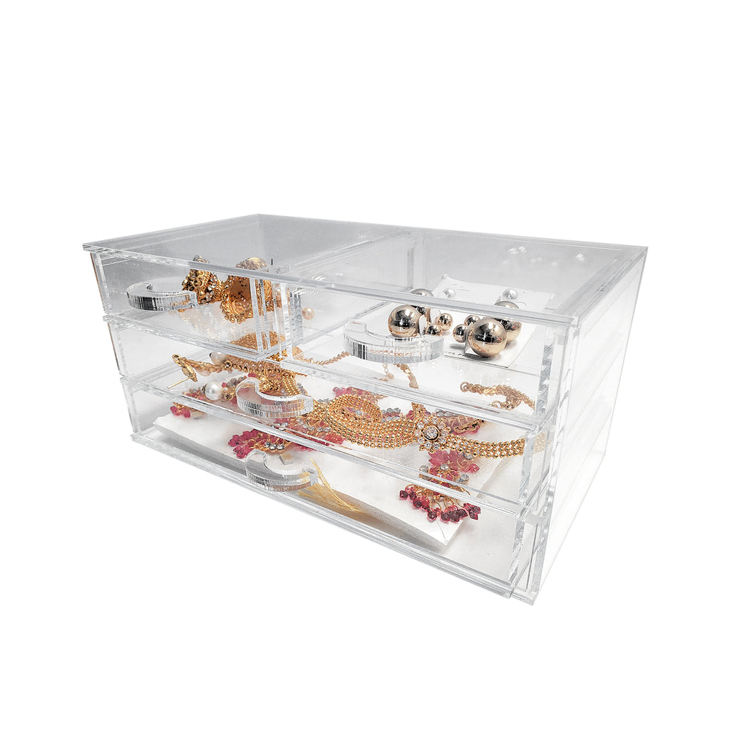 Clear Acrylic Jewelry Organizer- Plastic Work Displays