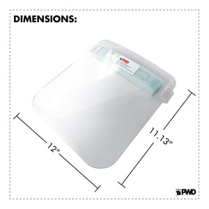 "Protective Face Shield -(10/Pack) (Dimensions: 11.5"" H X 12"" W)"