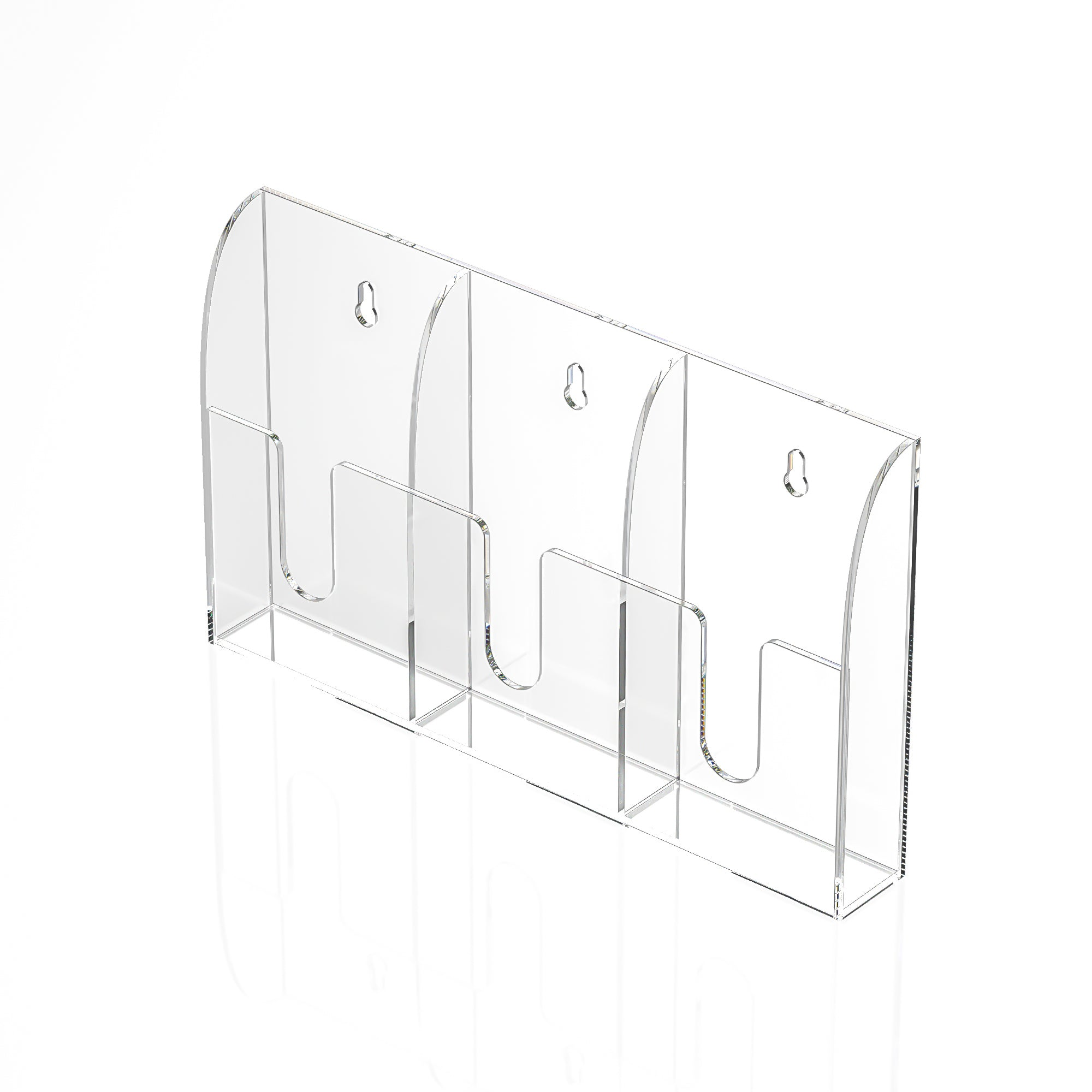"11.75"" H Acrylic Brochure And Pamphlet Rack"