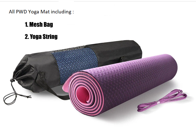 TPE Larger Size Yoga Mat (Dual Colours)