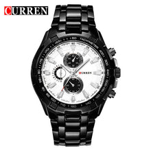 Mens Analog Sporty Outdoor Elegant Waterproof Watch - Black and Stainless Steel Wristwatch - HOT Seller - My VIP Super Store