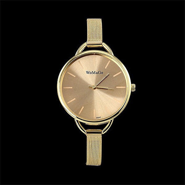 Ladies Elegant Analog Gold Watch with Slim Wrist Strap - Great Accessory - Great Gift - My VIP Super Store