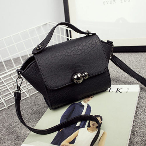 Sleek Chic Small Ladies Bag with button clasp and Shoulder Strap - Ideal for a Night Out on the town - My VIP Super Store