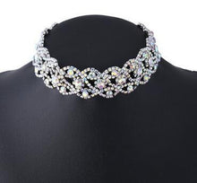 Ladies Elegant Rhinestone Silver Choker - HOT fashion Accessory - Hot Seller - Great Gift - My VIP Super Store
