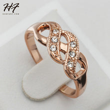 Ladies Rose Gold/Silver Cubic Zirconia Finger Ring - Hot Seller - Very Pretty - My VIP Super Store