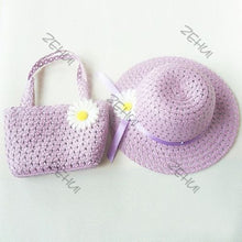 Girls Floral Summer Straw Bag and Hat Set - Great Gift - Variety of Colours - My VIP Super Store
