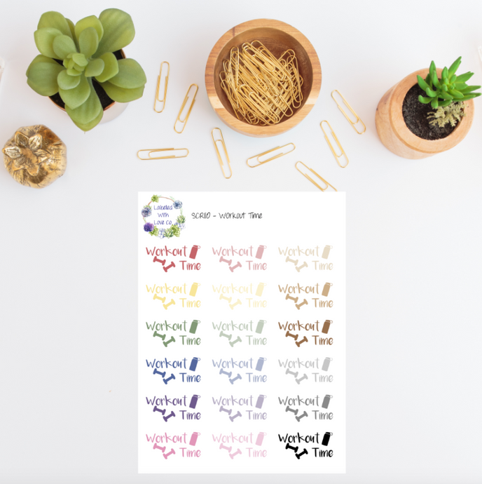 SCRI10 - Workout Time Planner Stickers