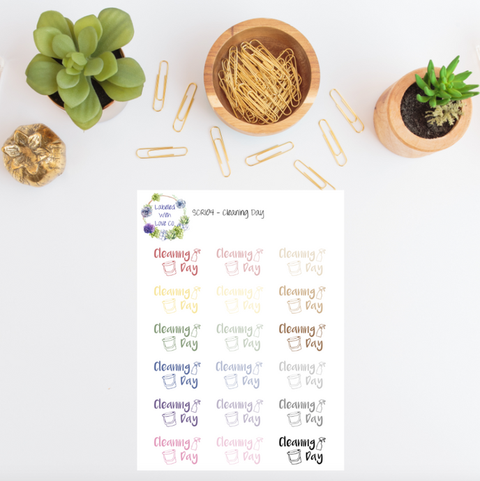 SCRI04 - Cleaning Day Planner Stickers