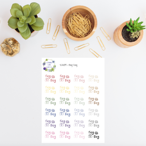 SCRI09 - Pay Day Planner Stickers