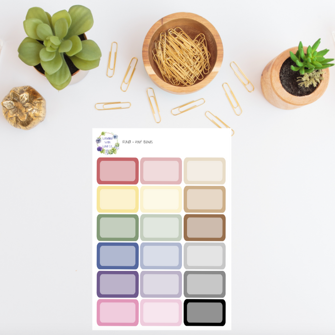 FUN01 - Half Box Planner Stickers