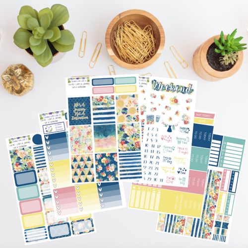 WK42 - Life's A Journey Not A Destination Weekly Planner Sticker Kit