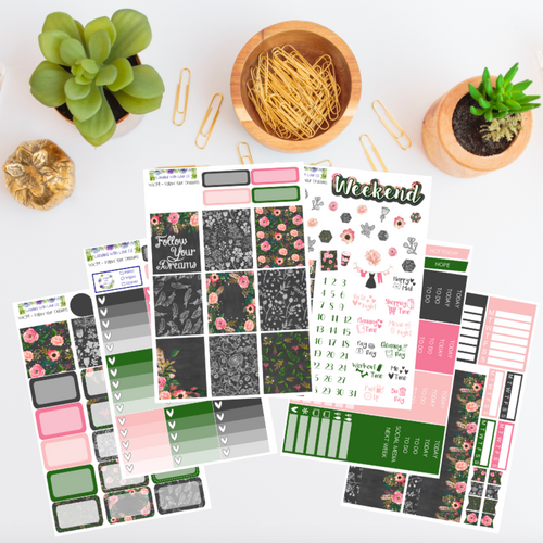 WK39 - Follow Your Dreams Weekly Planner Sticker Kit