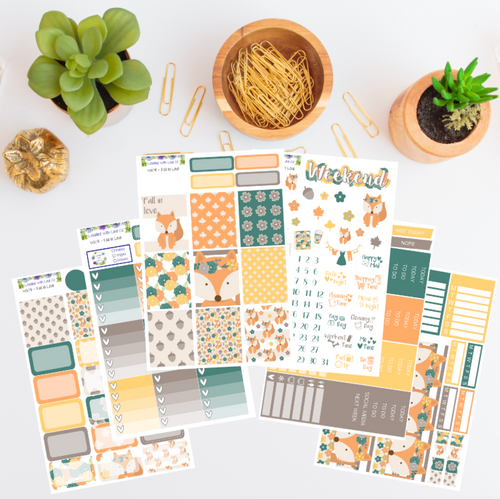 WK41 - Fall In Love Weekly Planner Sticker Kit