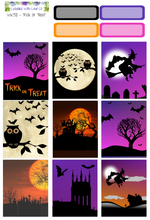 WK52 - Trick Or Treat Weekly Planner Sticker Kit