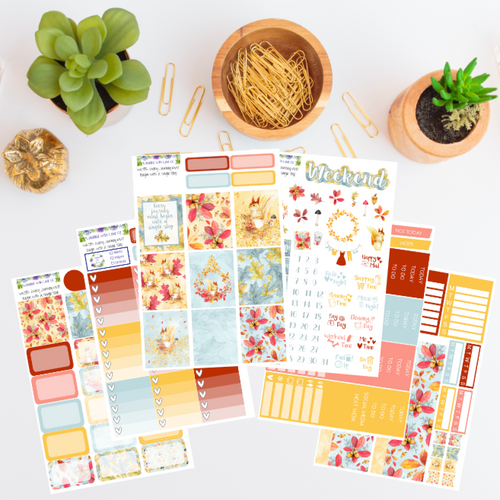 WK55 - Every Journey Must Begin WIth A Single Step Weekly Planner Sticker Kit