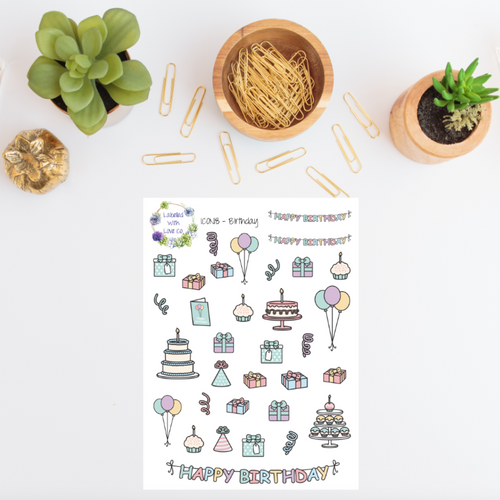 ICON18 - Birthday Planner Stickers
