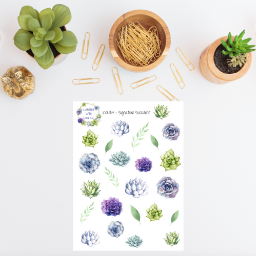 ICON24 - Signature Succulent Planner Stickers