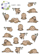 CHAR13 - Sloths Planner Stickers
