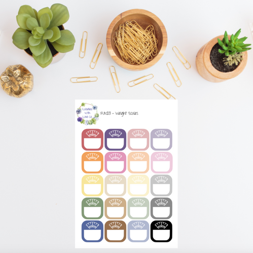 FUN23- Weight Scales Planner Stickers