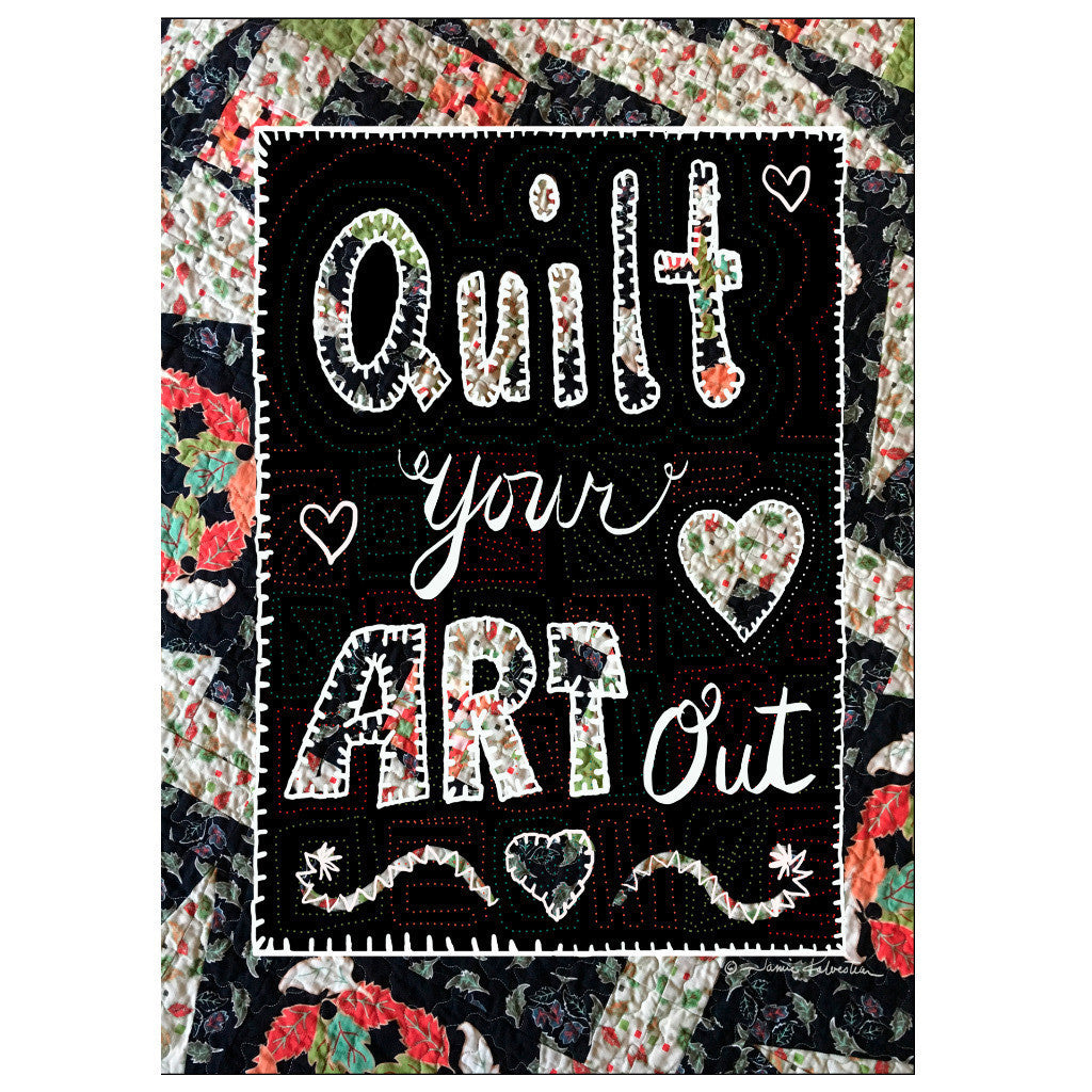 Greeting Card - Stitched - Quilt Your Art Out