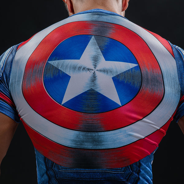 Fitness Captain America Shield T-shirt