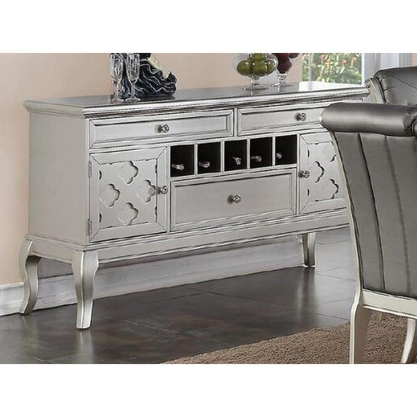Rubber Wood sideboard Silver BM171388