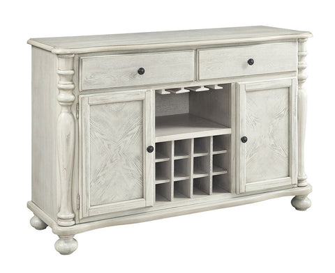 Transitional Style Wooden sideboard With Two Door Cabinets And Two Drawers White BM183681