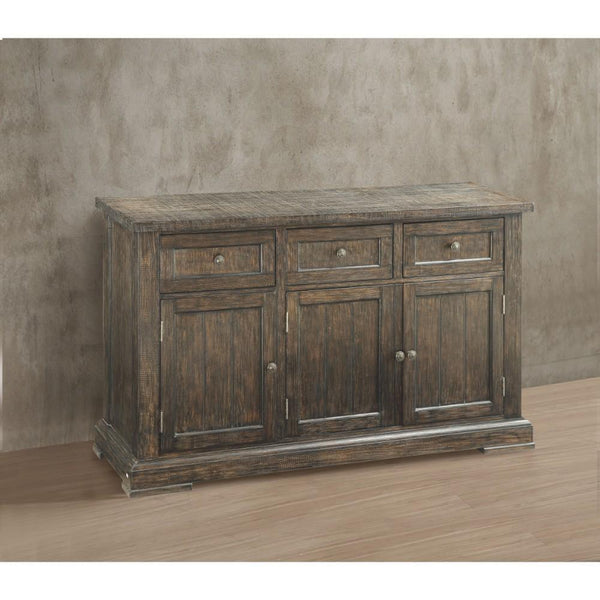Transitional Wood And Metal sideboard With Drawers Brown BM185640