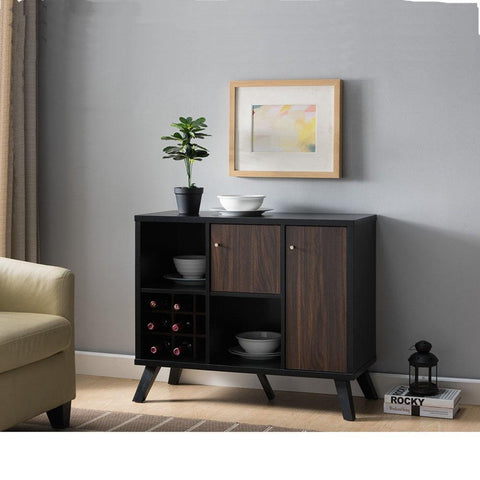 small_server_sideboard_black_sideboard_with_wine_rack