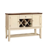 White Sideboard with Wine Rack BM166208