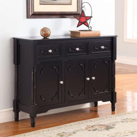 black luxury sideboard