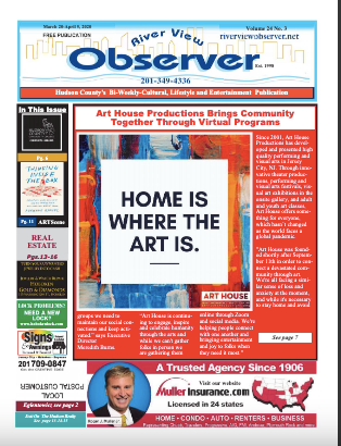 We are on the cover of the River View Observer!