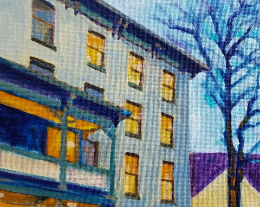 """The Lambertville House at Dusk"" by Francisco Silva"