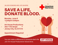 Blood Drive - Monday, June 8 from 12pm-5pm EST