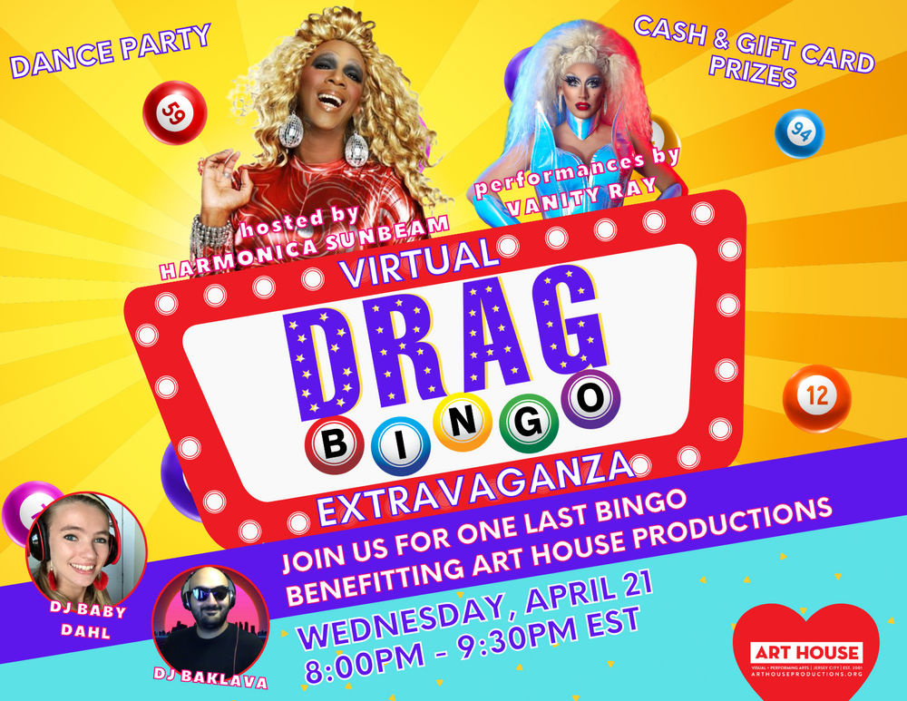 Virtual Drag Bingo Extravaganza - Wednesday, April 21 at 8:00pm EST