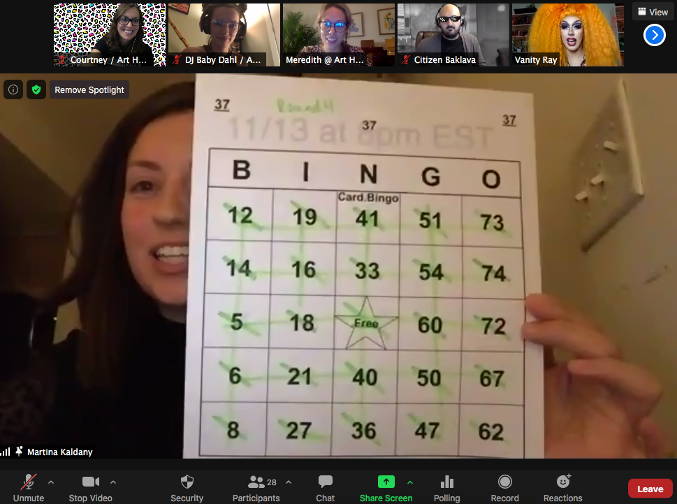 Virtual Drag Bingo - Wednesday, November 25 at 8pm ET