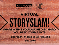Virtual Story Slam - March 26 at 7:00pm EST