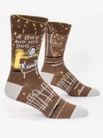 Blue Q A Boy and His Dog CREW SOCKS - http://www.shopabigails.com