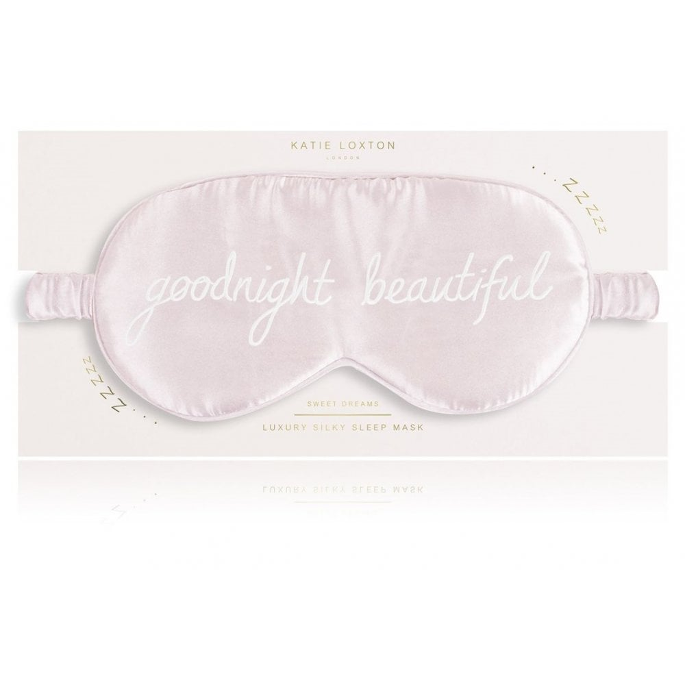 SATIN EYE MASK | GOODNIGHT BEAUTIFUL | PINK | KATIE LOXTON - http://www.shopabigails.com