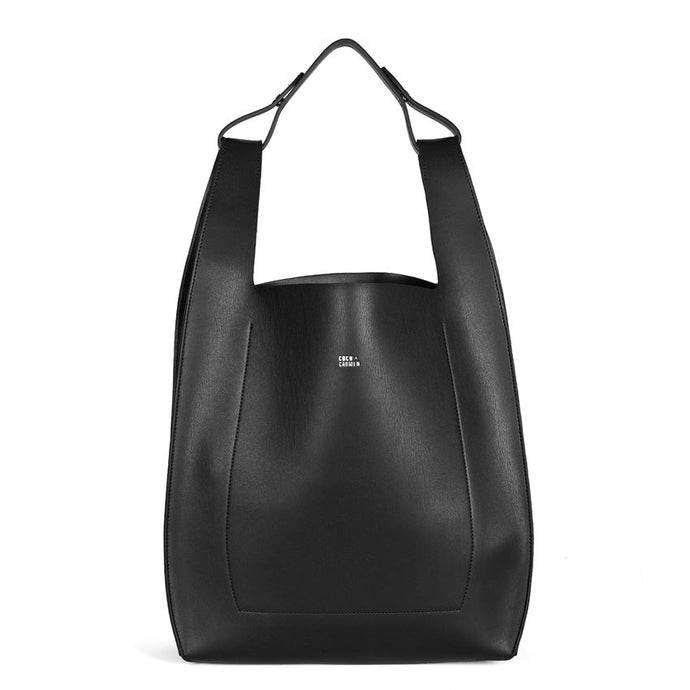 Italian Style Forward Vegan Tote Purse Black - http://www.shopabigails.com