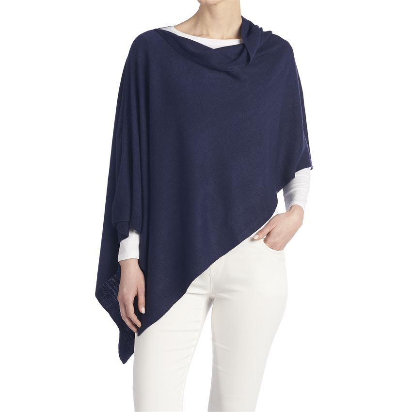 Lightweight Poncho Navy, Stonewashed or Fig - http://www.shopabigails.com