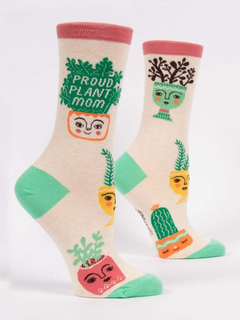 Blue Q Ladies PROUD PLANT MOM CREW SOCKS - http://www.shopabigails.com