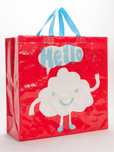 Blue Q Hello Shopper Grocery Recycled Tote Bag - http://www.shopabigails.com
